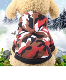 Hondentrui Camouflage Rood XL - Ruglengte 25 cm - In Voorraad