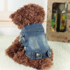 Honden spijkerjas Blue - Maat XL - Ruglengte 32 cm - In Voorraad