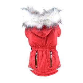 Hondenjas Rood Color - Large - Ruglengte 31-33 cm - In Voorraad