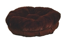 HONDEN MAND AFP PLUSH SNUGGLE BED BRUIN- 50x50x10 cm - IN VOORRAAD
