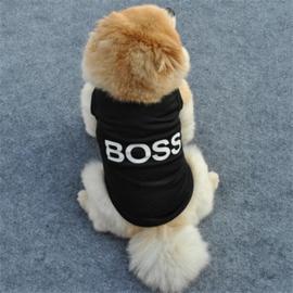 Hondenshirt Zwart Boss - Maat L