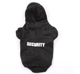 Honden Hoody Security Zwart - Medium - Ruglengte 30 cm- In Voorraad