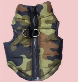 Hondenjas camouflage -Maat XS- Ruglengte 20 cm - In Voorraad