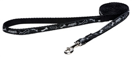 HONDENRIEM ROGZ FOR DOGS JELLYBEAN  BLACK BONE