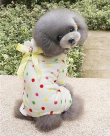 Hondenpakje Dots Geel - Large - Ruglengte 30 cm - In Voorraad