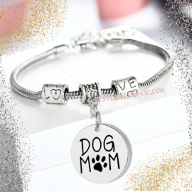 Armband Dog Mom One Size - Gratis Verzending