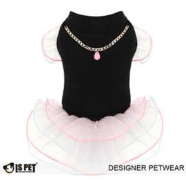 IsPet  Janet Ballet Dress Zwart - XL - Ruglengte 36-39 cm - In Voorraad