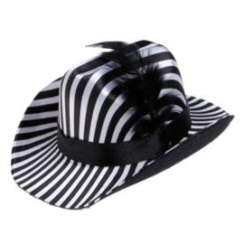 Honden hoed Zwart Wit