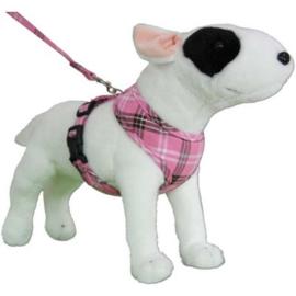 Hondentuigje Doxtasy Round Loop Scottish Pink - XXS - In voorraad
