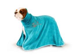 Handdoek Voor Honden En Katten - Dry Dude  Turquoise Handdoek- 3 Maten