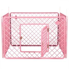 Puppyren Roze 4 panelen  90x90x60 cm - Gratis Verzending