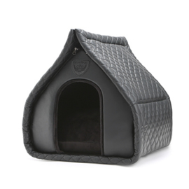 Puppy Angel Luxury Quiltted House Black