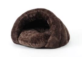 Honden slaapzak bruin en grijs