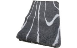 Vet Bed Grijs Waves - Anti Slip 4 Maten