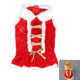 Honden kerst jurk - Maat XS - Ruglengte 20 cm - In Voorraad