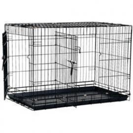 Hondenbench Premium-- Zwart Gecoat - Metalen Lade