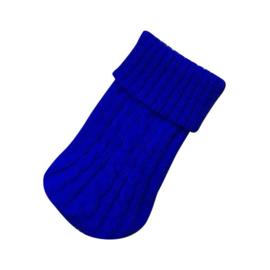 Hondentrui gebreid  Blauw - Large - Ruglengte 40 -44 cm- In Voorraad