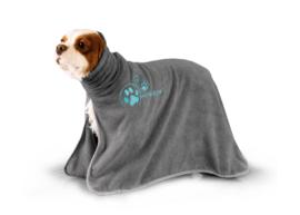Handdoek Voor Honden En Katten - Dry Dude  Grijs  3 Maten