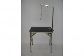 Trimtafel 48x71x80H RVS incluisef trimarm, lus en mandje onder tafel