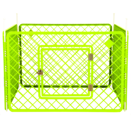Puppyren 4 panelen groen  90x90x60 cm - Gratis Verzending