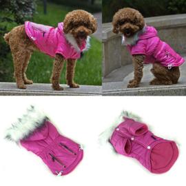 Hondenjas Color Roze - Ruglengte 23-25 cm - In Voorraad