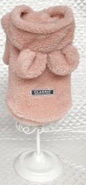 Hondenjas Fleece Roze - Maat XL - Ruglengte 35 cm- In Voorraad