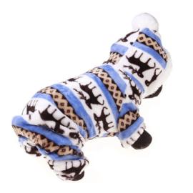 Honden Fleece Pakje Blauw - XXL - Ruglengte 37 cm - In Voorraad