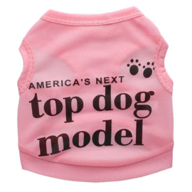 Hondenshirt Roze Top Dog Model
