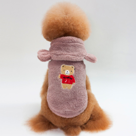 Hondenjas Teddy Bear bruin- Medium - Ruglengte 25 cm - In Voorraad