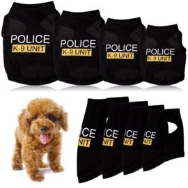 Hondenshirt Police - Large - Ruglengte 35 cm-  In Voorraad