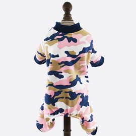 Honden pajama Roze Camouflage -Large - Ruglengte 33 cm -  In Voorraad