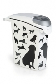 CURVER VOEDSELCONTAINER OPDRUK HOND SILHOUETTE STAPELBAAR 23 LTR