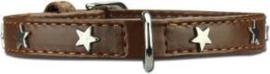 Doxtasy Hondenhalsband Twinkle Little Star Baby brown/Silver 20 cm - XXXS - Nek  13,5 - 17,5 cm -IN VOORRAAD