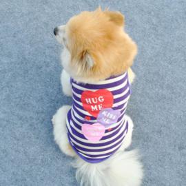Honden Shirt Hug me maat L - Rug 34 cm - Borst 44 cm - In Voorraad