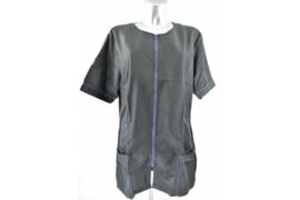 Trimshirt zwart met paars - model Dot -  - Getallieerd model
