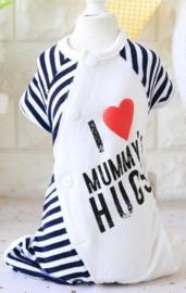 Honden pajama Hugs Mummy - Maat XL