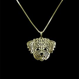 Maltezer - Shih tzu  Halsketting Gold Plated - IN VOORRAAD