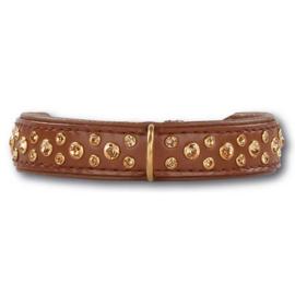 Halsband Doxtasy Swarovski Strass Extreme Brown/Gold 20mm