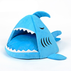 Hondenhuis Blauw Haai  2 Maten