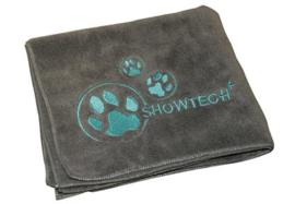 Show Tech Handdoek  Voor Honden En Katten 56x90 cm  Grijs - Microfibre Handdoek
