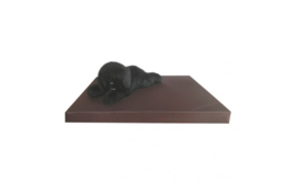 Hondenmatras Leatherlook Bruin
