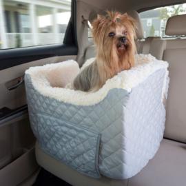 Honden autostoel Snoozer Lookout II Pet Car Seat - Small - Grey(tot 8 kg) met opberglade - Gratis Verzending
