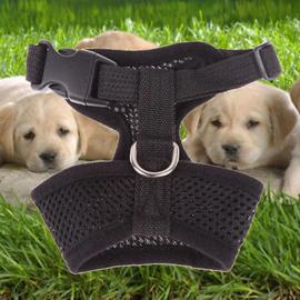 Hondentuigje Uni Zwart  - Medium- Borstomvang 35 -50 cm - In voorraad
