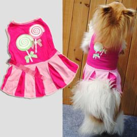 Hondenjurk Roze lolly print - Maat XS - Ruglengte 20 cm - In Voorraad