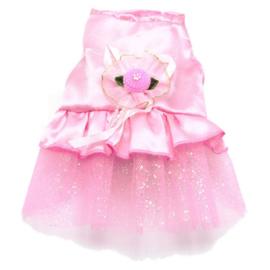 Honden jurk Roze Ellis - Maat XS - Ruglengte 21 cm - In Voorraad