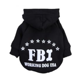 Hondentrui FBI Zwart - Maat XL - Ruglengte 35 cm - In Voorraad