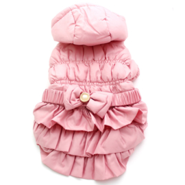 Hondenjas roze Bow L