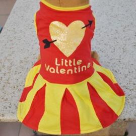 Hondenjurk Valentine Rood Geel print - Maat XS - Ruglengte 20 cm - In Voorraad