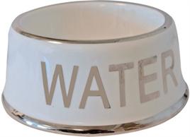 DRINKBAK HOND WATER WIT/ZILVER 18 CM