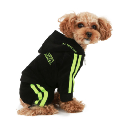 Hondenjumpsuit Puppy Angel HIPSTER TRACK SUIT BLACK